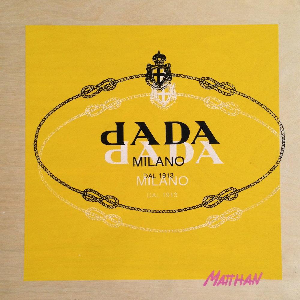 Dada or Nada  screenprint on panel  12 x 12  2013