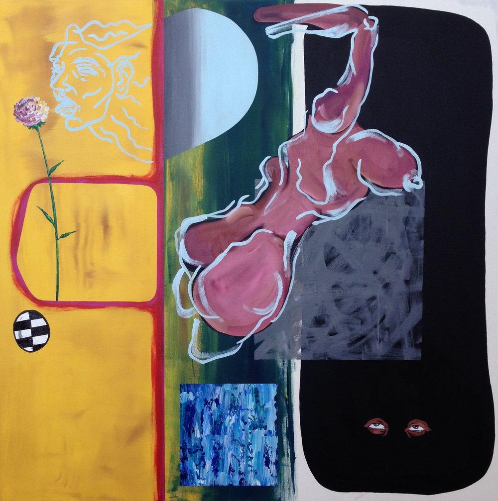 Dusk  acrylic on canvas  48 x 48  2013