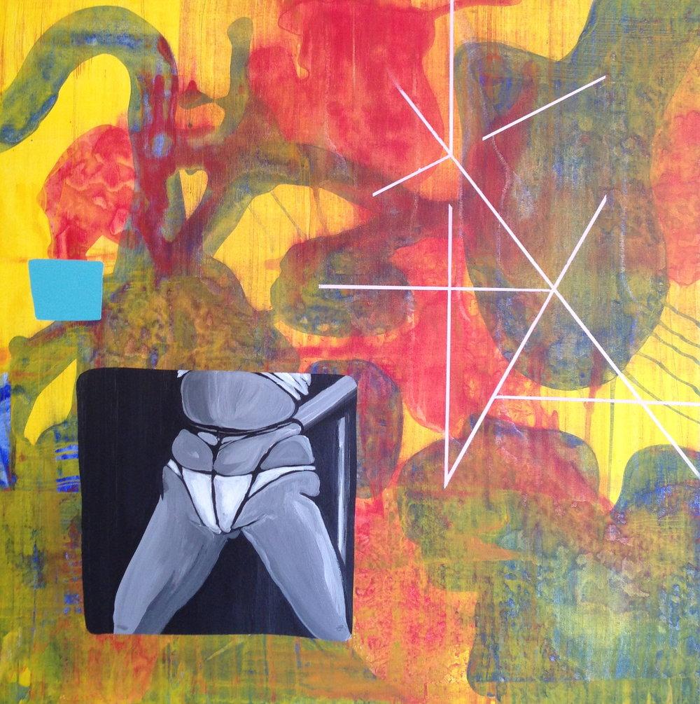 Click Thru  acrylic on canvas  24 x 24  2013