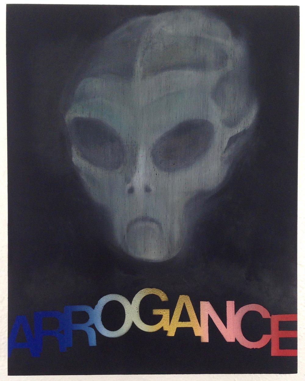 arrogance  oil on panel  11 x 14  2016