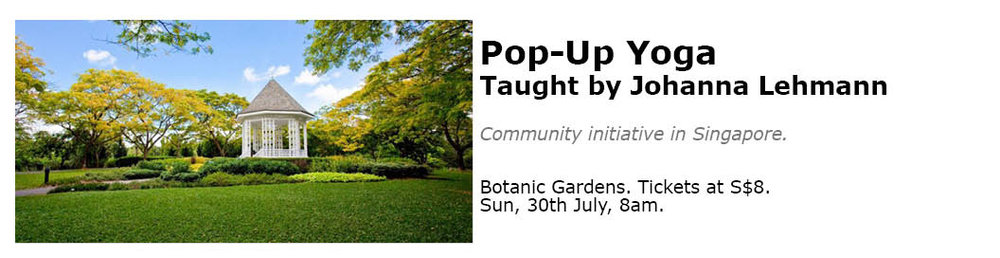 Pop up yoga singapore