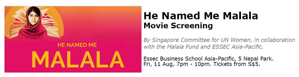 Malala Screening Singapore