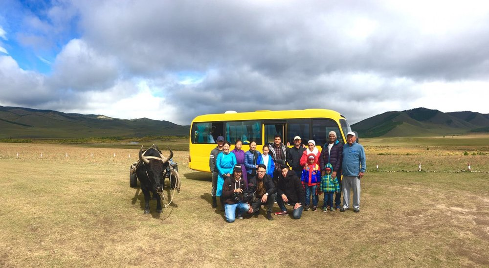 With the camp staff and the crew of Freestate Productions.