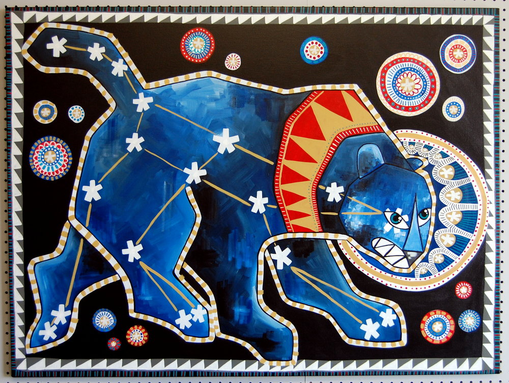 """Ursa Major""   Acrylic on Canvas    48"" x 36"" //    SOLD"