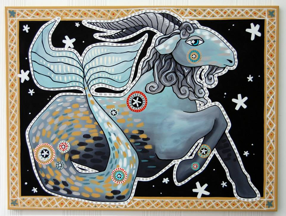 """Capricornus""  Acrylic on Canvas 30"" x 40"""