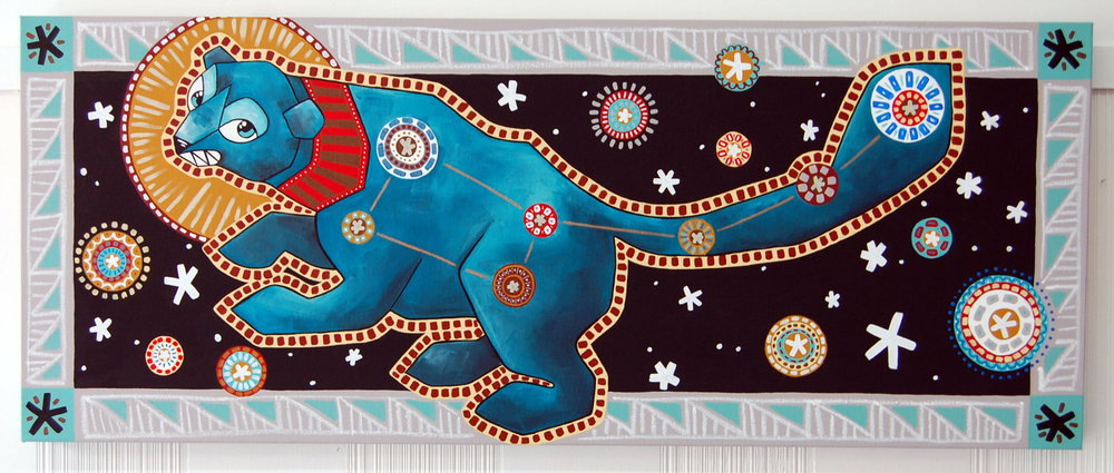 """Ursa Minor - The Little Dipper"" Acrylic on Canvas 18"" x 36"" // SOLD"
