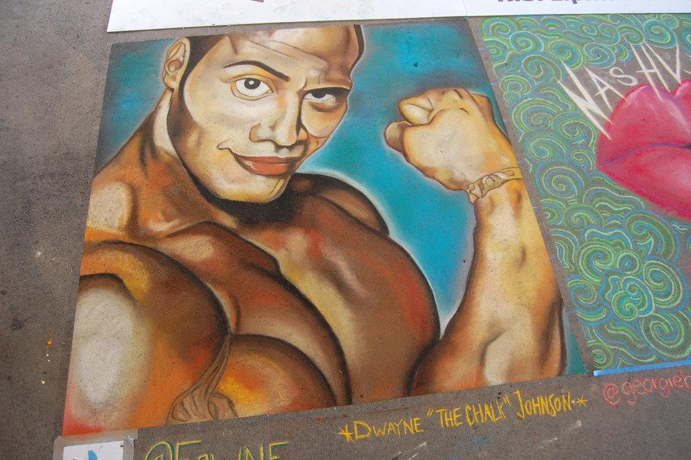 """Dwayne """"The Chalk"""" Johnson"""