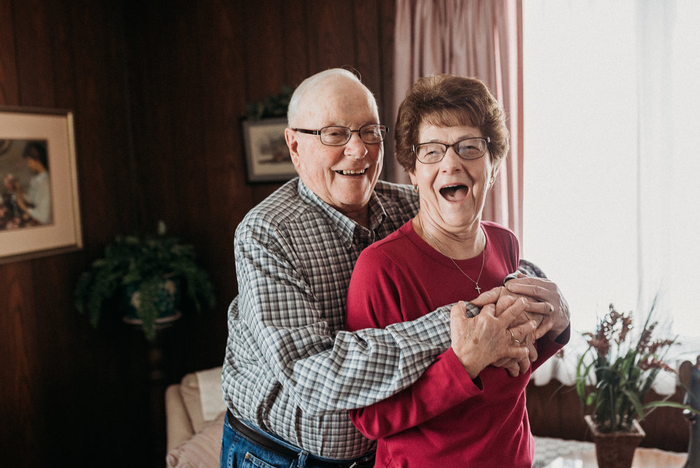 In home older couple