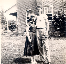 My grandparents at the farm.