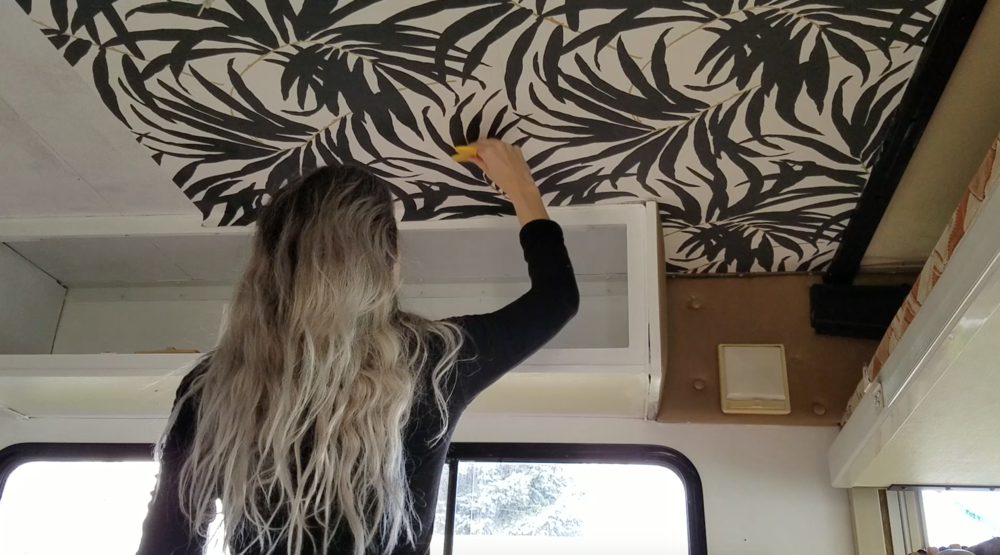 One Downside To Wallpaper On The Ceiling Of RV Is That Winnebago Always Moving Vibrating While We Drive And Flexing With Temperature Changes