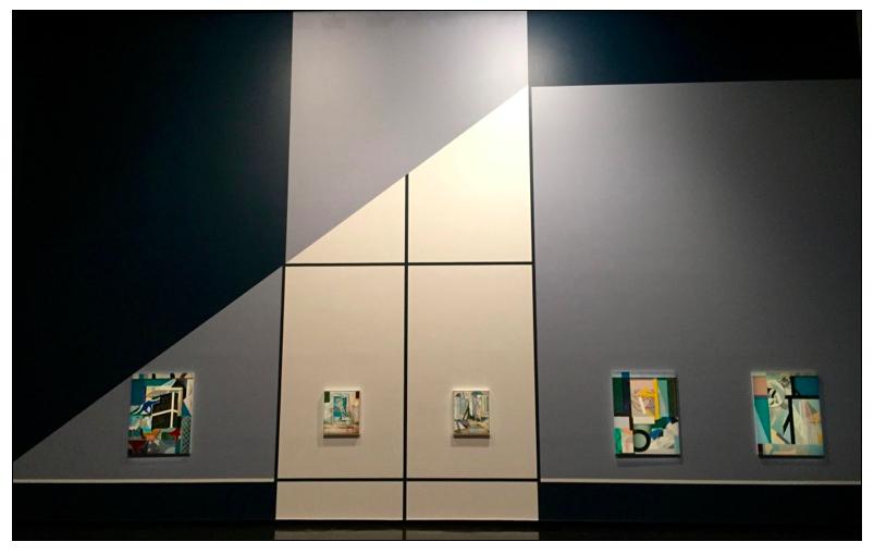 Mason Kimber (Left to right) Window, Fresco 14, Fresco 15, Museum, Previous Gestures, 2016