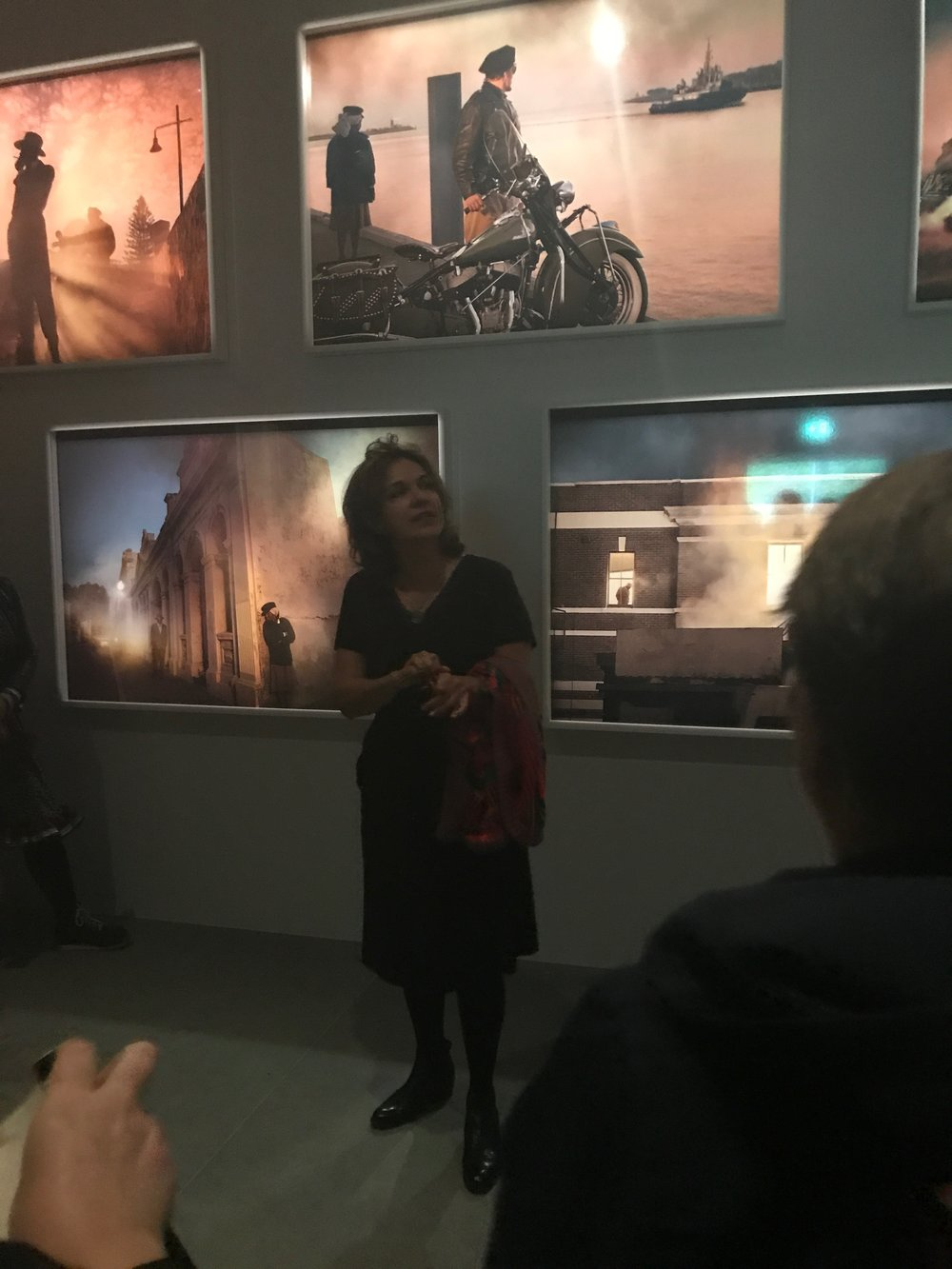 Tracey talking about her work  Passage , 2017 on the First Nations private tour after the opening of the Australian Pavilion.