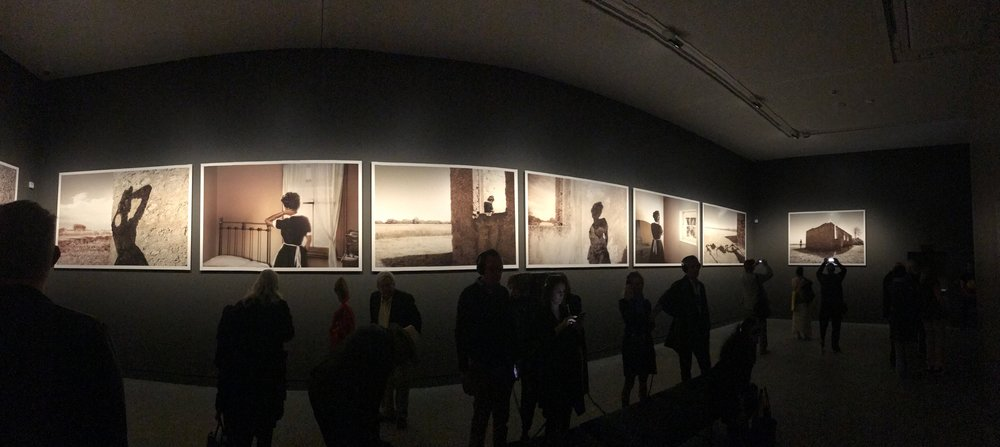 Panoramic view of  Body Remembers , 2017 inside the Australian Pavilion
