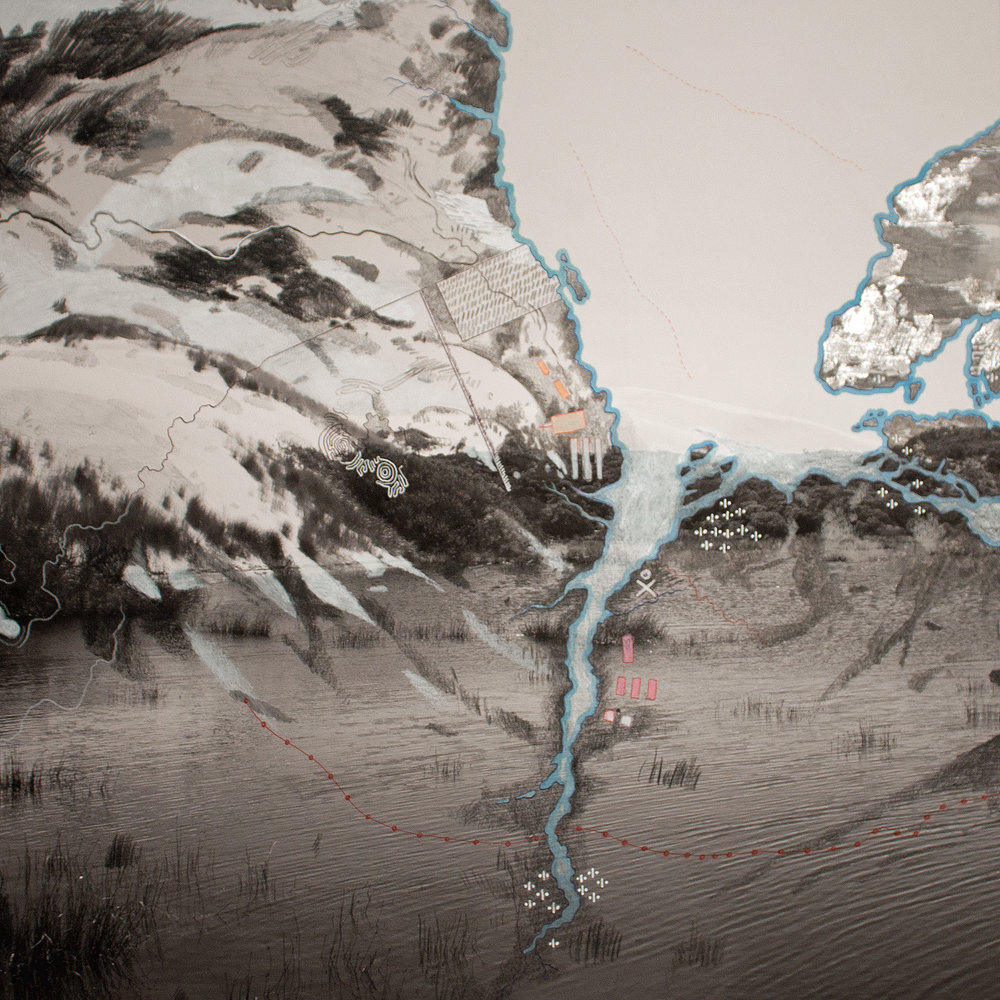 James Tylor & Laura Wills, The Forgotten Wars    1-6 , 2017, Drawing on photographic paper, Courtesy of the artists and Vivien Anderson Gallery, Melbourne.