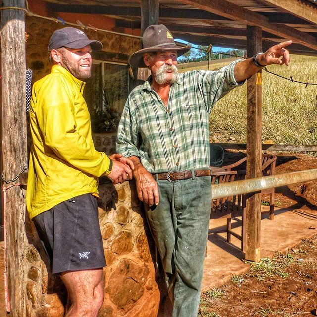 #throwbackthursday I met this wild bushman will I was running Australia's 5,330km Bicentennial Trail. He was on horse back and had been living on the trail for years. I gained an enormous amount of insight as to what to expect  in Queenslands part of the Great Dividing Range. A was around 3000km in at this point, and the tough climbs, overgrown bush and wild and deadly animals wasn't over yet!