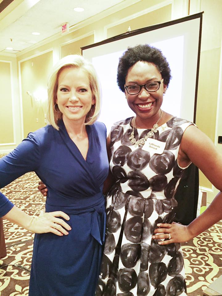 LaShonda with Fox News Correspondent Shannon Bream