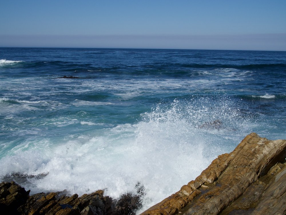 Waves at Montaña de Oro State Park, California.