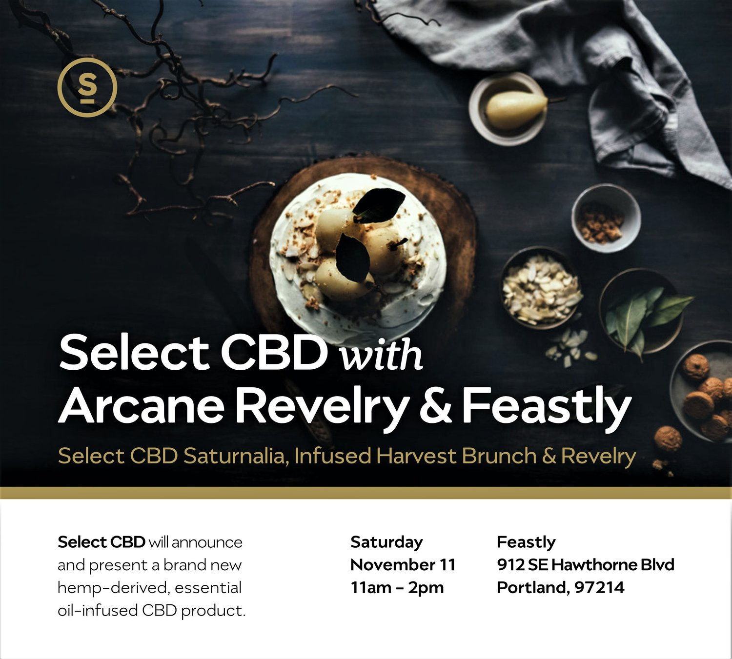 Arcane Revelry Partners with Feastly PDX and Select CBD for