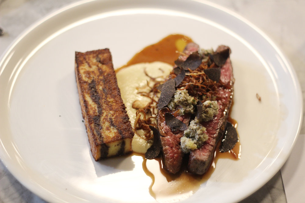 wagyu flank, oxtail and bread gratin, onion, horse radsih and truffle salsa 2.JPG