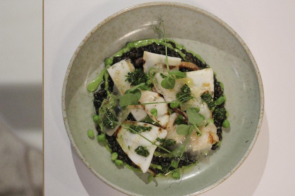 southern calamari, fregola, ink, lardo, peas.jpg