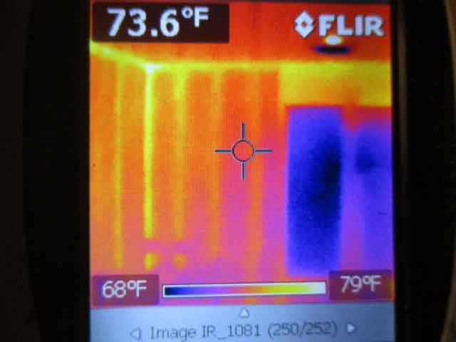 Thermal Imaging during a Home Inspection which Discovered Missing Insulation | Houston Home Inspection Services | Home Inspector | Commercial Property Inspector | Commercial Building Inspection | Free Thermal Imaging | Real Estate Inspector | ATEX Inspects LLC