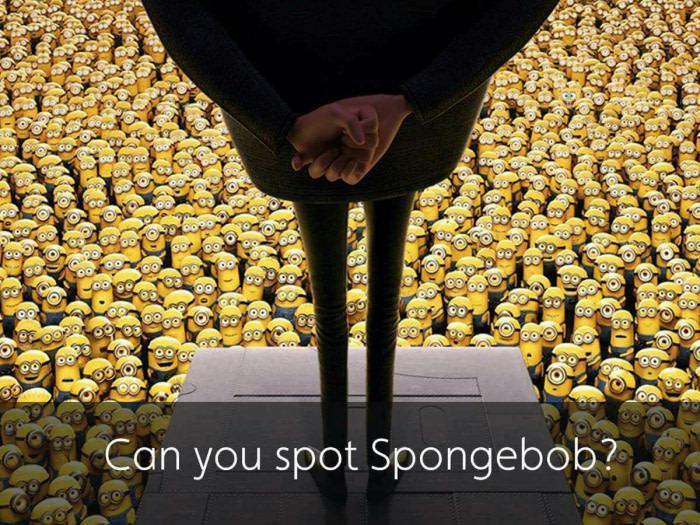 find the spongebob