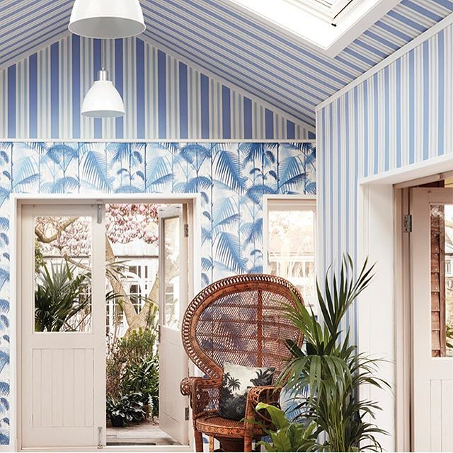 I'm liking these tropical vibes from Cole & Son.