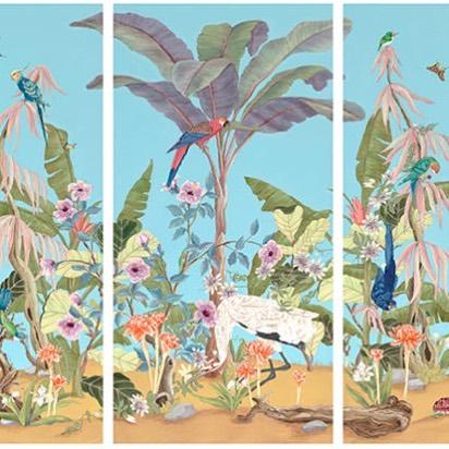 Beautiful triptych by @allisoncosmos 🌿👌