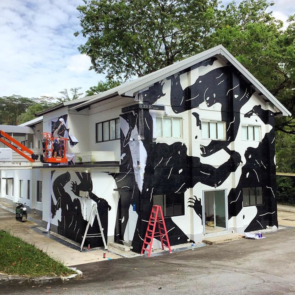 OVER THE INFLUENCE - Hong Kong Cleon Peterson's Lock Route at Gillman Barracks, Singapore   January 2017