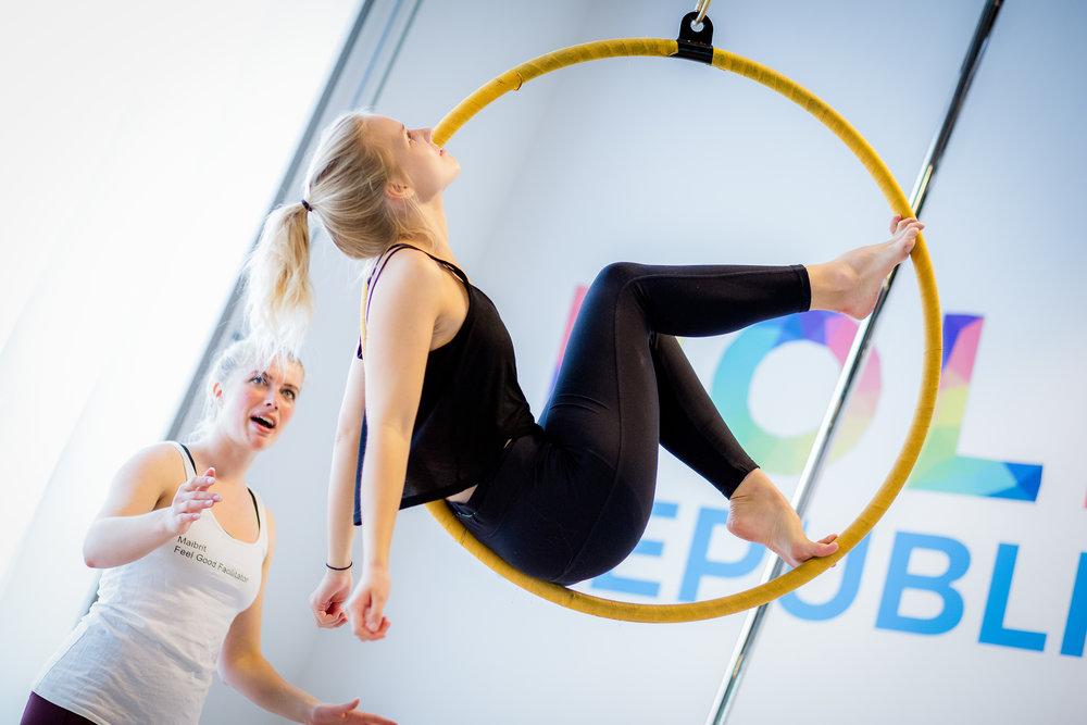 aerial hoop beginner