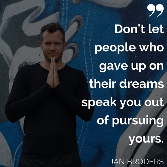 Just don't ! : Anyone who is pursuing their own dreams will be supportive of you pursuing yours !! : Most people who have given up on their dreams will see you as a threat. : Don't listen to them. Why should what they say be any more true than what you believe? : Surround yourself with people who support you. : People who see your greatness. Who love you. Who want the best for you. : That's when miracles happen. That's when you gain momentum!
