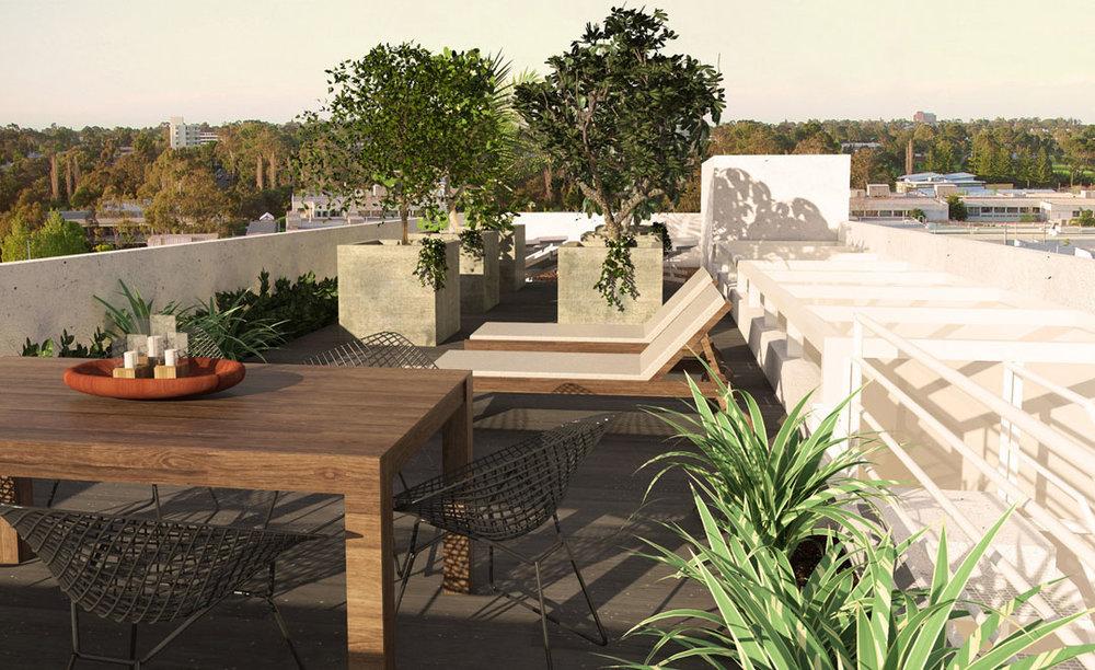 O teto jardim ocupou uma área normalmente sem uso, tendo uma horta e um pomar como paisagismo do local, além de ser uma área de coleta de água pra reúso. - GOSTOU DESSA IDEIA?