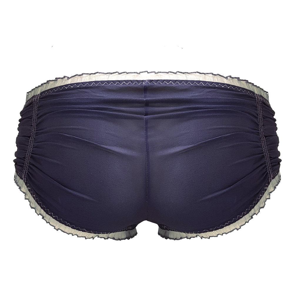 1b625bd39 Charcoal silk chiffon knickers — MariLupa