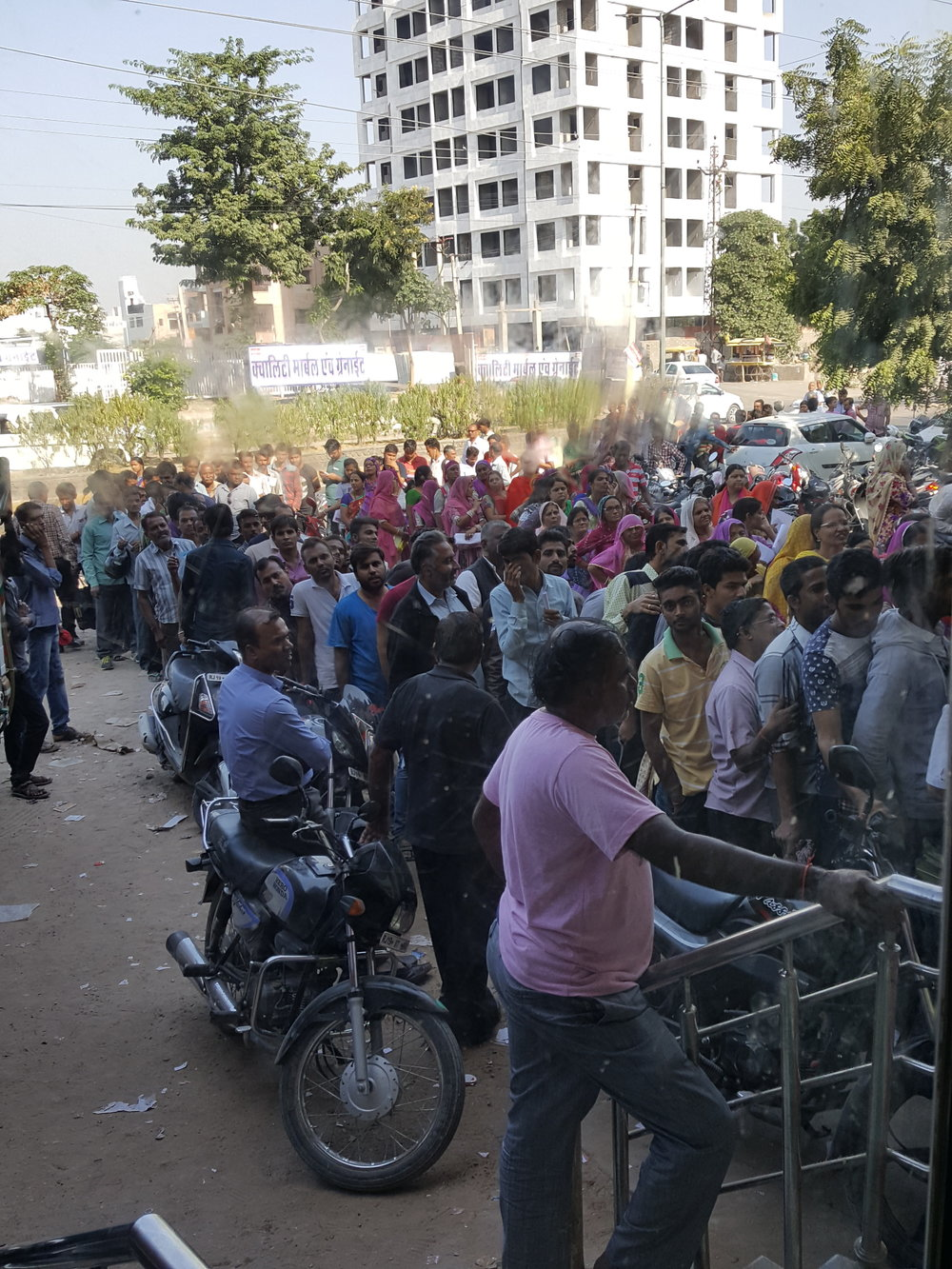 The queue for the bank in the first week of demonetisation