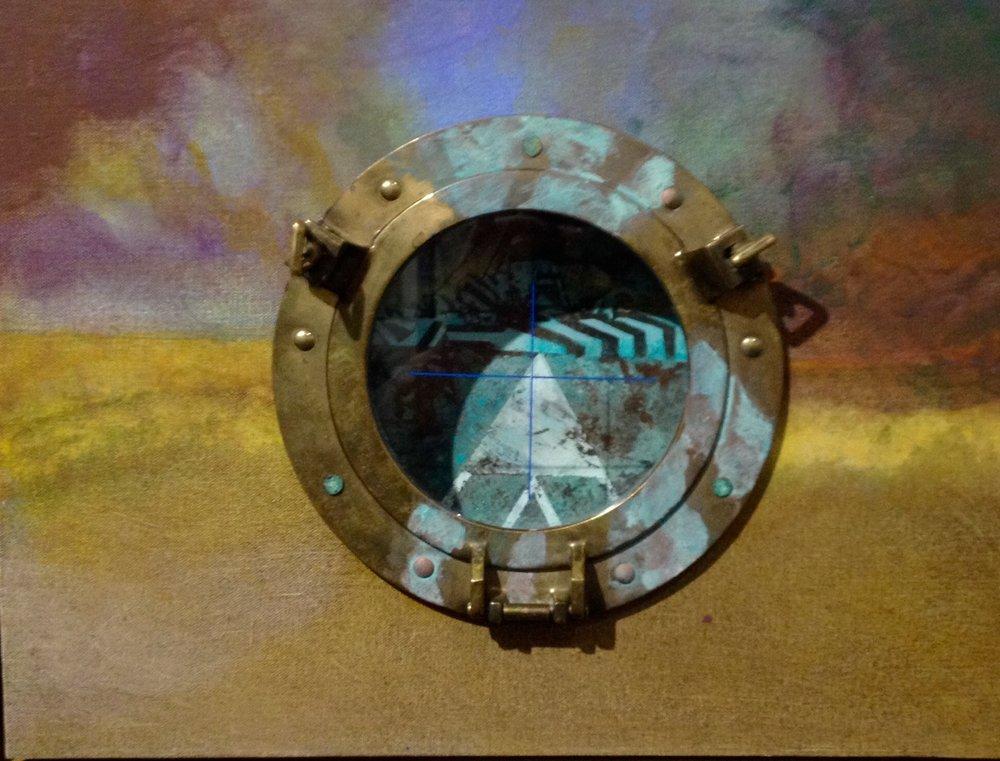 'DAZZLE with Copper'  41x33x7cm
