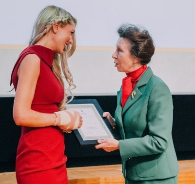 Receive a research award from Her Royal Highness The Princess Royal (Princess Anne)