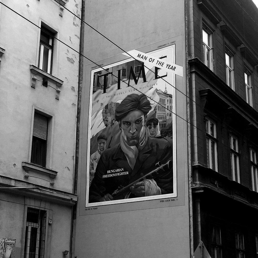 """Photo: Christley, Olyvia. """"Freedom Fighter Mural in Budapest"""" 2018. JPEG File."""