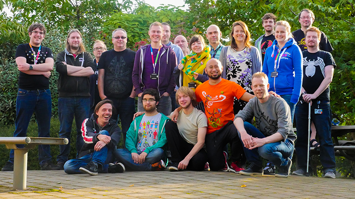 This is probably the only picture of the original team we managed to snag in early September 2016. We're also missing one or two members - but since then we've also added a few more too! <3