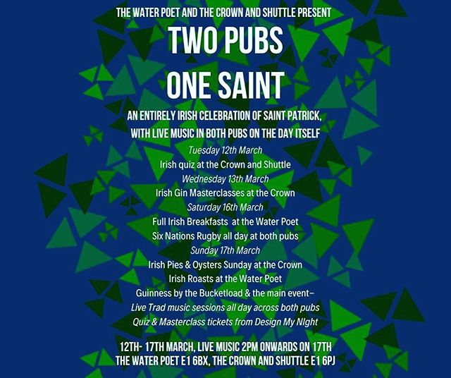 Prepare for the St Patrick's Day celebrations. 17.03.19 - Irish specials, live music and bucketloads of #guinness 🍀 #stpatricksday #stpaddys #livemusic #thewateepoet