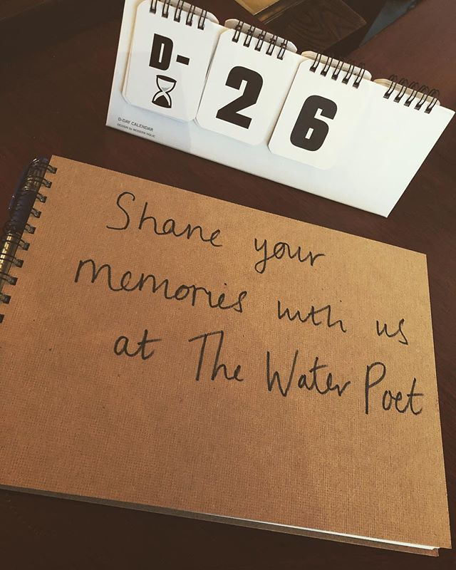 Come and share all your great Water Poet memories with us ! Can't believe we only have only 26 days left ! #thewaterpoet #waterpoet #spitalfields #folgatestreet #memories