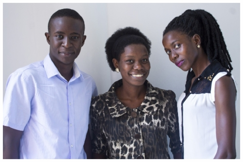 From left to right: Were Douglas, Margaret (Maghi) Nanyombi and Winfred Nafula – members of the HerHealth Uganda Team