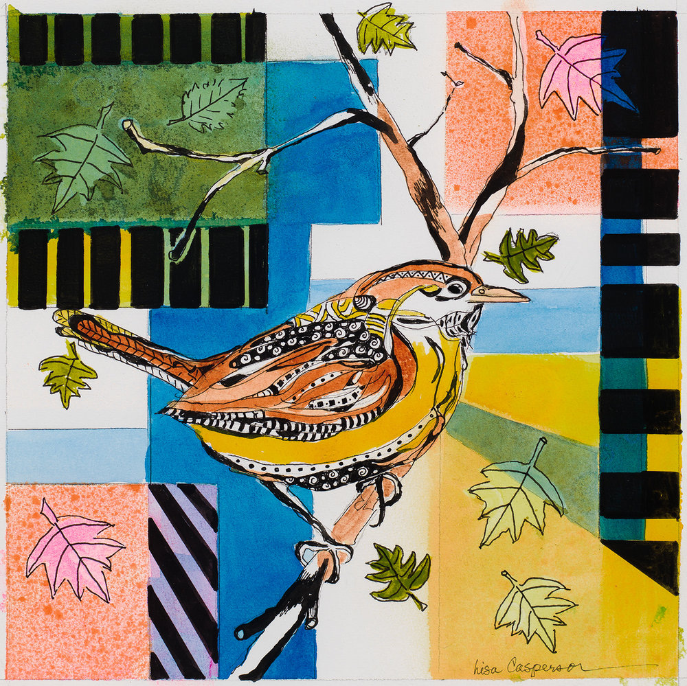 """Carolina Wren""                                                                 Prints Available  BIRDS OF NORTH CAROLINA SERIES"