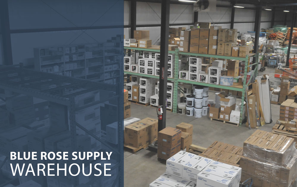 Our new, state of-the-art BlueRose Supply warehouse has hundreds of products on hand for fast, efficient delivery of all your janitorial products and cleaning supplies.