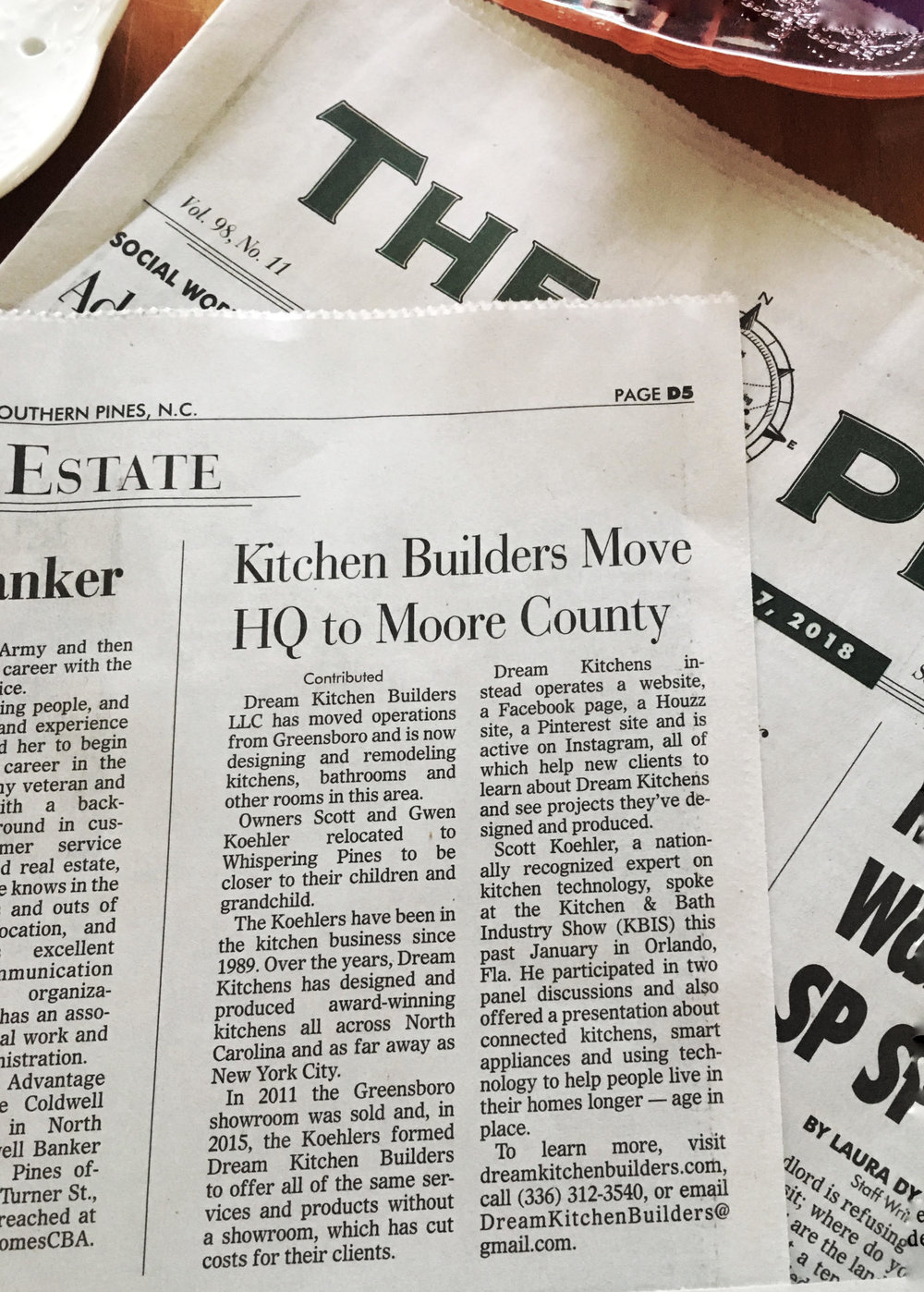 Kitchen Builders Move HQ to Moore County  |  Dream Kitchen Builders