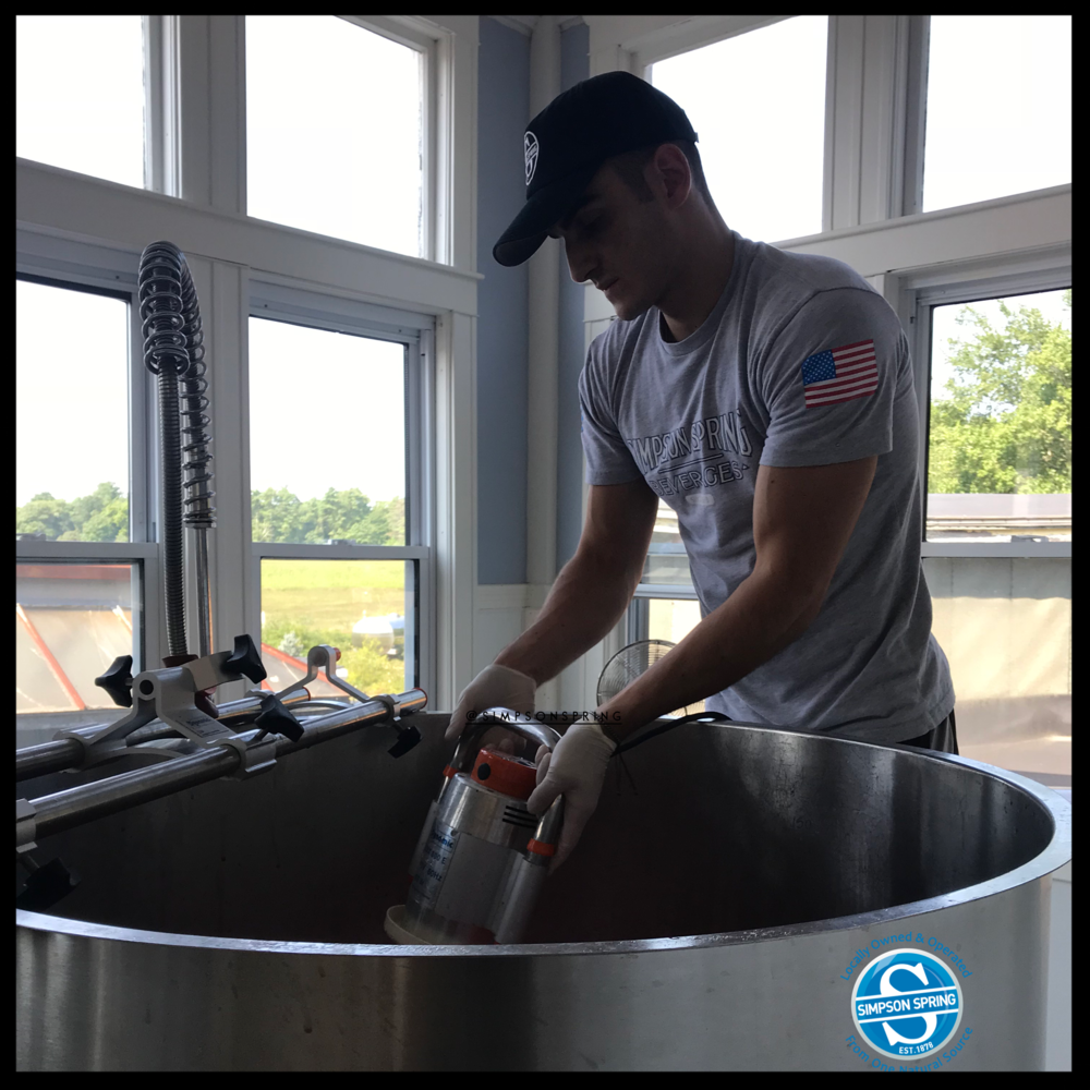 All of our soda is hand mixed by Matt and Jim Bertarelli. They hand-make the extract from scratch, and add carbonation, and of course spring water.