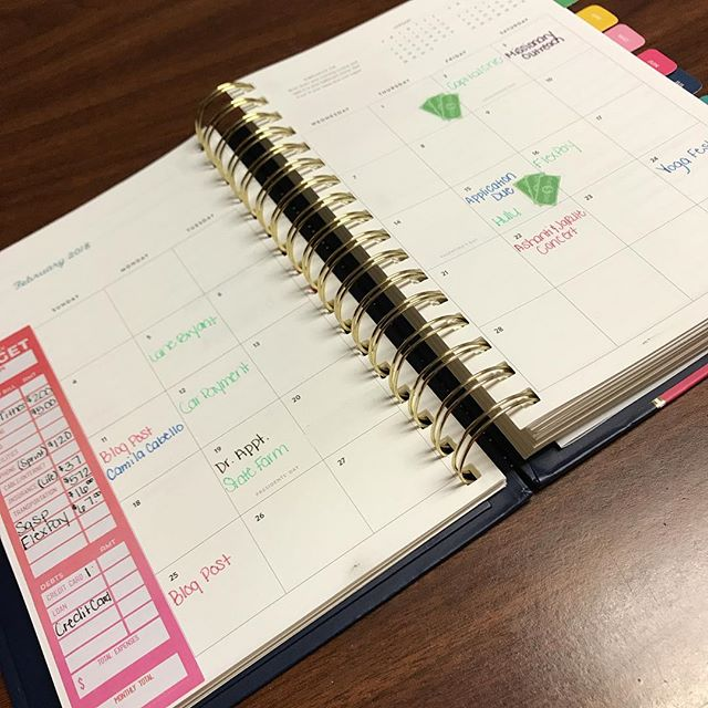 Tomorrow is February 1st! Have you started planning out your month? • • • • • • • • • #planning #planningfebruary #blkgirlsplan #emilyley #plannerbabe #budgetingstickers #february