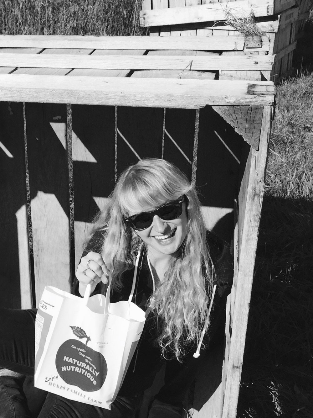 Just casually hanging out in this apple crate, enjoying  these naturally delicious apples and upstate vibes.