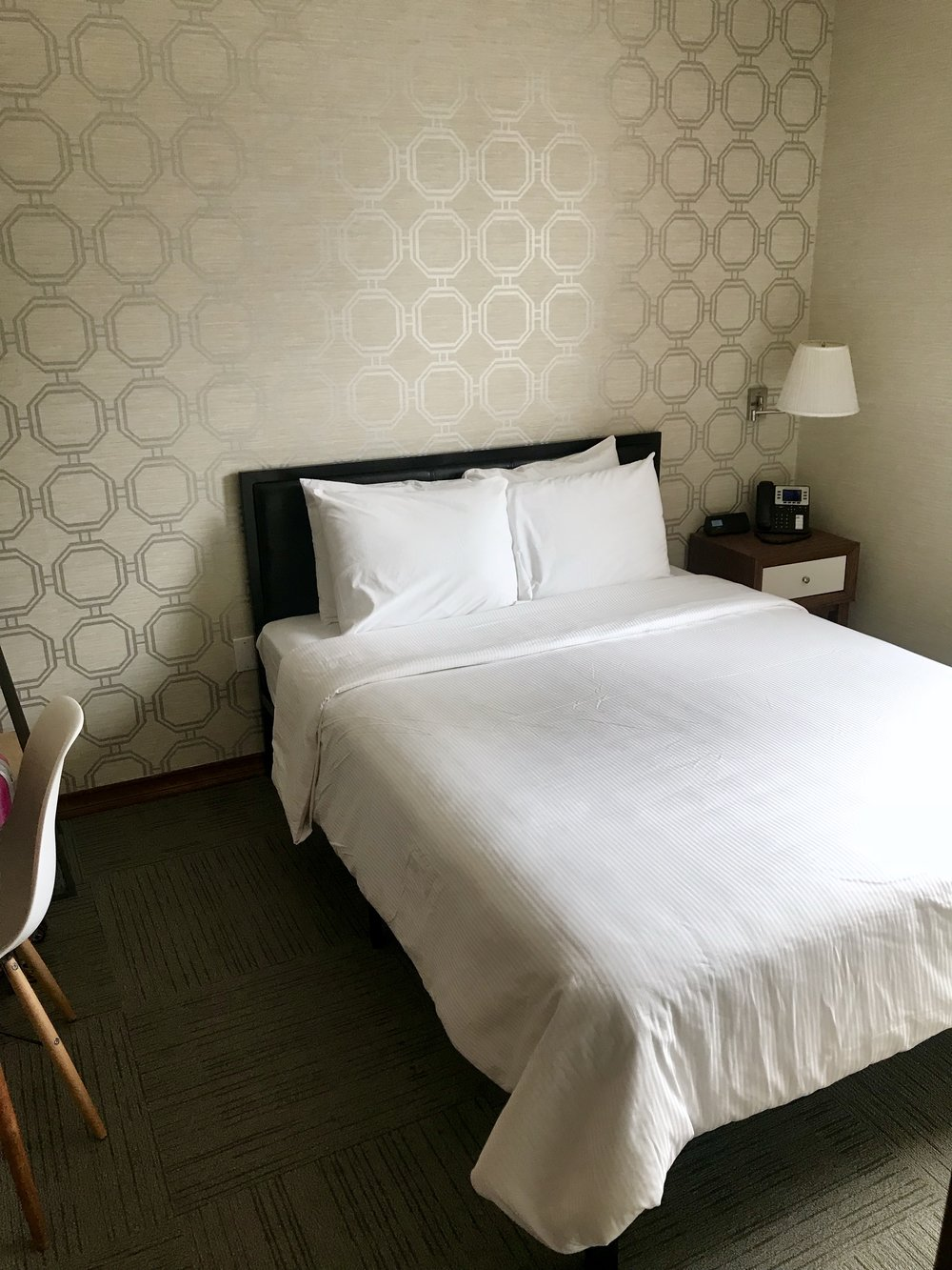 Quiet, immaculately clean rooms and high beds in each room
