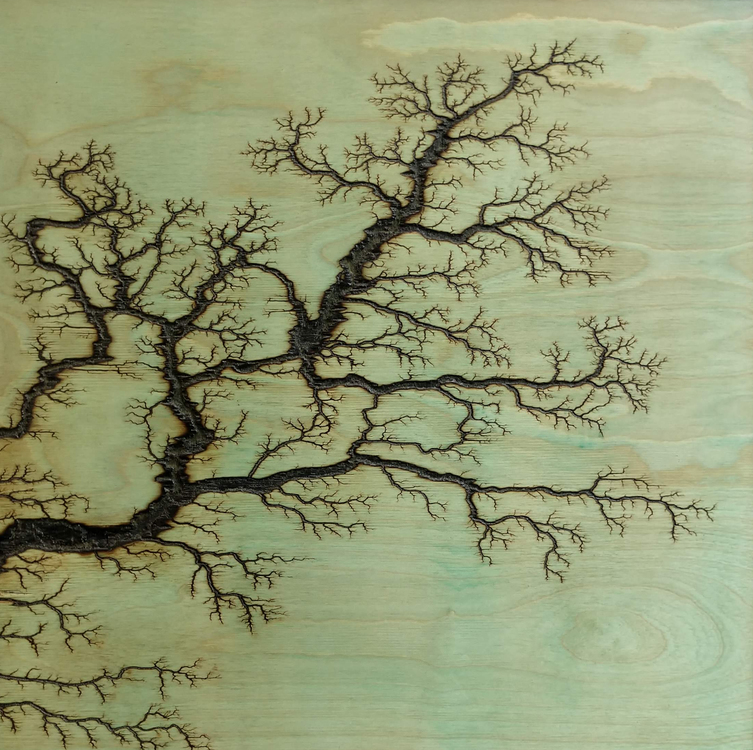 Blue / Green High Voltage Pyrography