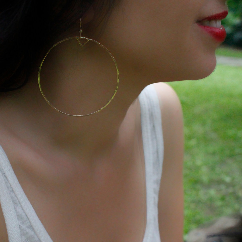 699066df2eaee Large Triangle Hoop Earrings